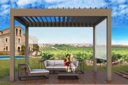 Pèrgola bioclimàtica , per terrasses i restaurants