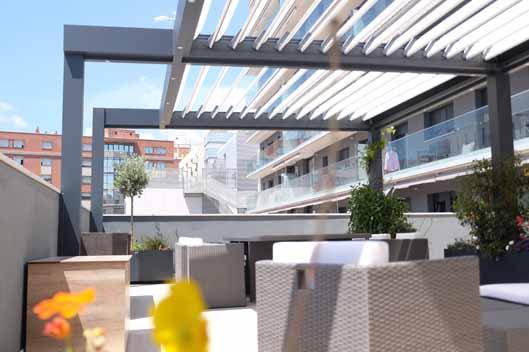 Pérgola bioclimática, para terrazas y restaurantes