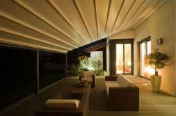 Pèrgola d'alumini per la terrassa