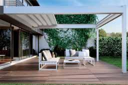 Pérgola bioclimática NOMO, para disfrutar de la terraza