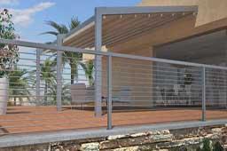 Pérgola de aluminio para la terraza