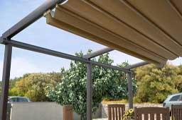 Pèrgola d'alumini per la terrassas